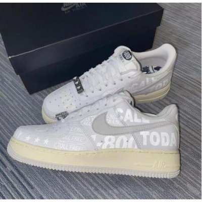 "無現貨全新 Nike Air Force 1 '07 Premium ""Toll Free"" 白灰 CJ1631-100 現貨代購"