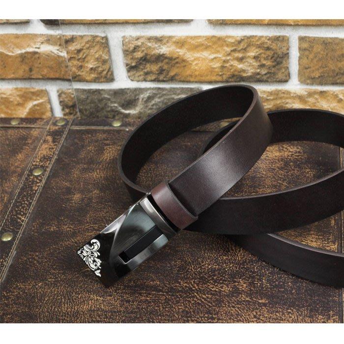 『老兵牛仔』LB-0371自動扣窄版牛皮皮帶/頭層牛皮/復古/彈力/耐拉/個性