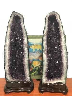 水晶洞 紫水晶 巴西 成對水晶洞 一對