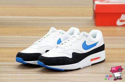 球鞋補習班 NIKE AIR MAX 1 PHOTO BLUE OG 白黑藍 麂皮 復古 男 慢跑 AH8145-112