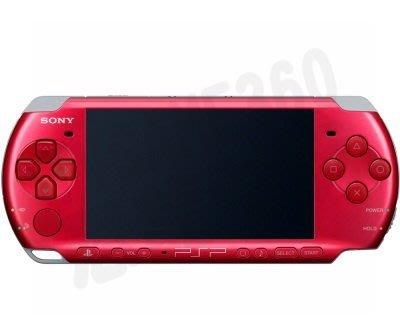 PSP3000 PSP3007 主機正面殼蓋 上殼蓋 (艷光紅)【台中恐龍電玩】