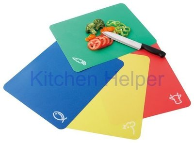 《卡樂登》廚房幫手 軟式切菜板/砧板 露營郊遊專用款 可彎折4片組