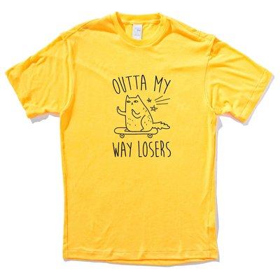 現貨✶OUTTA MY WAY LOSERS 短袖T恤 8色 貓咪 滑板 中指 cat