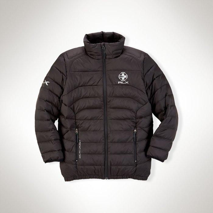 全新美國Ralph Lauren Polo RLX系列 黑色保暖羽絨外套 大童M 免運
