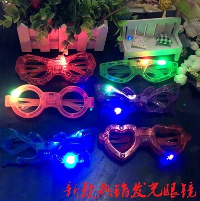 新款發光眼鏡/兒童發光LED眼鏡/酒吧...