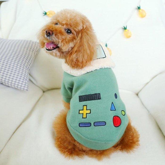 貓狗衣服-秋冬系列-遊戲機手把趣味外套