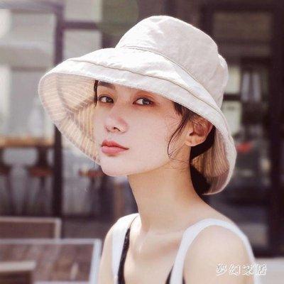 【可開發票-免運】漁夫帽 遮陽帽防曬日系女夏天韓版百搭太陽帽 FR 依依布舍