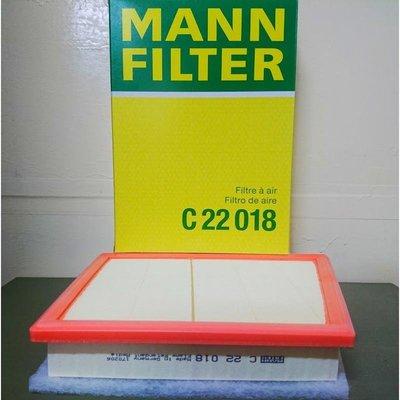 MINI F54 F55 F56 F57 F60 2014年後款 MANN 空氣芯 C22018