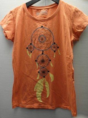 美國PARDON 女子橘色短袖T恤