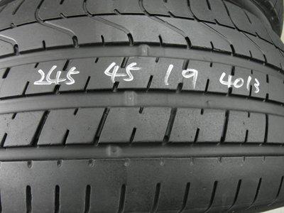 【宏勝輪胎】中古輪胎 中古胎 落地胎 維修 保養 底盤 型號:245 45 19 倍耐力 新P0 2條 8成新