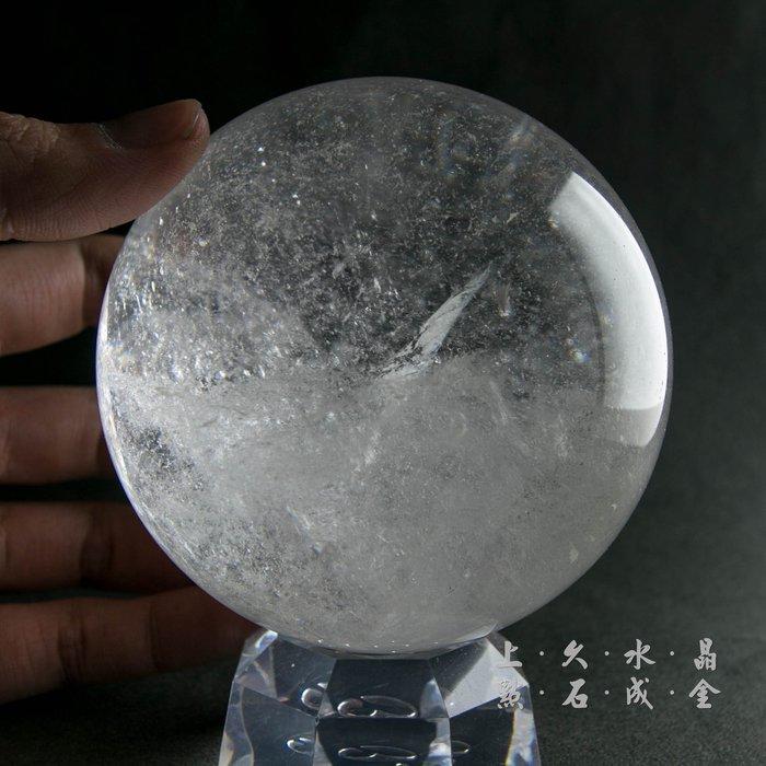 『上久水晶』【頂級天然白水晶球】【1176g】【9.5公分】_台中白水晶球零售/批發