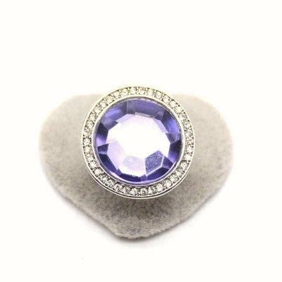 (小燕子日韓小物)  【1437】 歐美誇張紫色大寶石滿鑽銀色戒指 高雄市