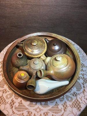 (店舖不續租清倉大拍賣)簡銘炤先生--柴燒大茶盤,原價15800元特價7900元