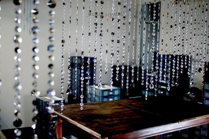 潔西卡台製手工水晶珠簾 工廠直營 B041 造型閃亮水晶隔屏 水晶珠簾 時尚現代感加分
