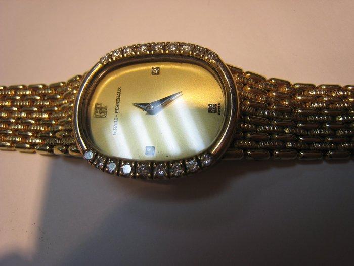 GP 芝柏 女鑽錶  原鑲鑽~難得糊塗 ~賣同行18K金(750) 你比較高就賣給你