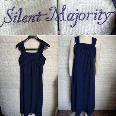 【皮老闆】二手真品 SILENT MAJORITY 裙子 洋裝 無袖 E598