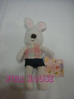 【FULL HOUSE 】日本人氣 全新正品 le sucre  la creme 法國 格子 玩偶吊飾現貨