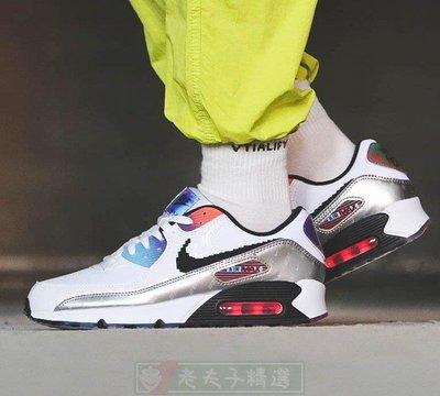 NIKE AIR MAX 90 復古 低幫 耐磨 氣墊 緩震 夜光 白藍銀 運動 慢跑鞋 DC0832-101 男女鞋