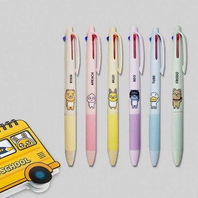 ♀高麗妹♀韓國 KAKAO FRIENDS 三色0.7mm原子筆/彈跳式圓珠筆(6款選)預購