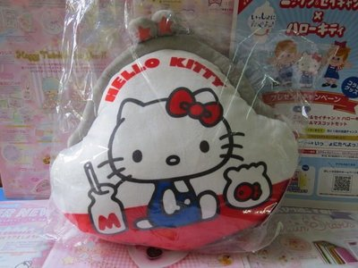 雙子星店 Sanrio Hello Kitty 紅色70年代經典 拍拍銀包Cushion 咕 背墊坐墊 日本