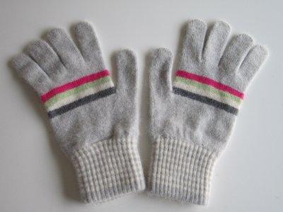 『安閣精品』全新真品 PAUL SMITH 灰色條紋 羊毛 手套