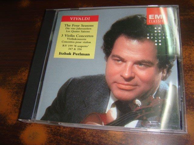 好音悅 帕爾曼 Perlman Vivaldi 韋瓦第 四季小提琴協奏曲 Four Seasons EMI 美版
