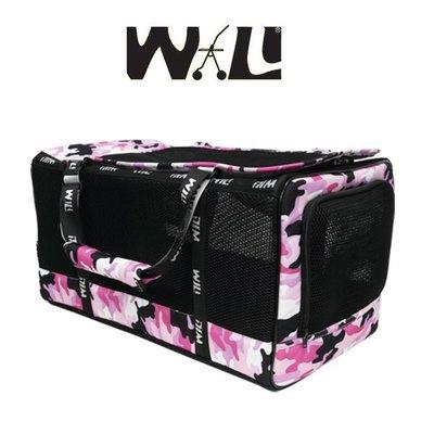 【李小貓之家】WILL《寵物透氣提袋-WB-03-迷彩系列》可手提、肩背、上推車、透氣網材質【法鬥可使用】