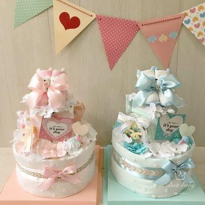 🏃♀️快速出貨免運費🎀Boababy💕韓系夢幻Boa經典款尿布蛋糕彌月滿月禮