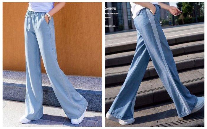 貓姐的團購中心~Z0399 天絲牛仔高腰顯瘦垂墜感薄款闊腿褲~2種顏色~S-3XL一件400元~預購款