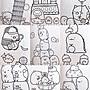 正版授權 日本 SANX 角落生物 角落小夥伴 貓咪 日製著色本 著色本 塗鴉本 著畫本 繪畫本 圖畫本 畫畫本