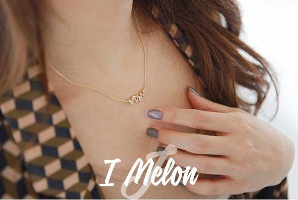 ::: i-MelOn ::: 100%韓國空運 正韓【現貨】小方塊水鑽鎖骨鏈項鍊※金色/銀色