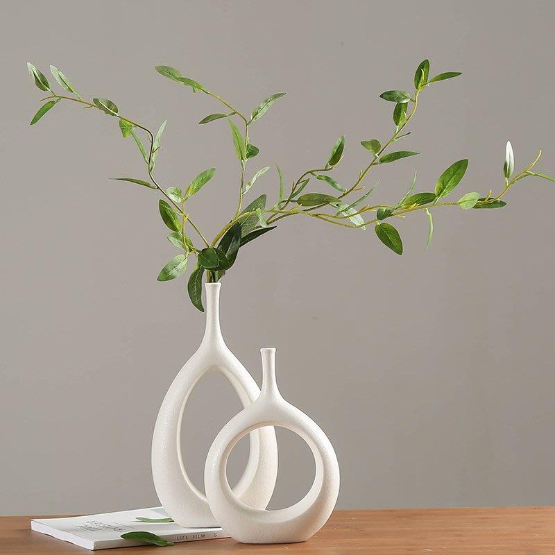 熱賣北歐現代簡約家居裝飾品擺件歐式白色陶瓷插花花瓶創意客廳裝飾品#擺件#陶瓷#北歐