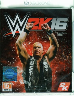 現貨中 XBOXONE 遊戲 WWE 2K16 美國勁爆職業摔角 英文亞版 【板橋魔力】