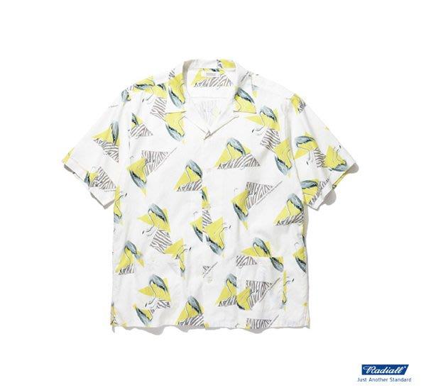 GOODFORIT / 日本Radiall FLAMINGO SHIRT S/S原創滿版火鶴主題襯衫