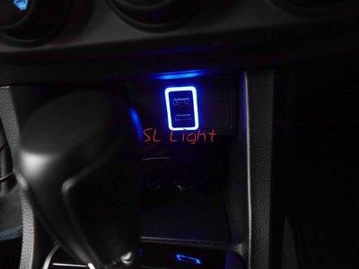 SL光電精品~車美仕雙孔USB 手機充電 盲塞 Camry Altis Rav4 Previa prius Wish