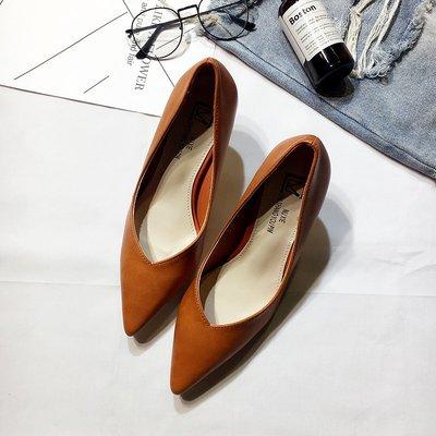 高跟鞋 女尖頭韓版 秋季新款時尚氣質細跟鞋OL風百搭套腳單鞋