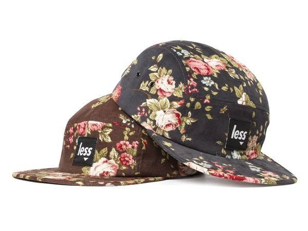 { POISON } LESS SQUARE LOGO CAMP CAP 燈芯絨面料Flower花紋五片帽 五分割帽