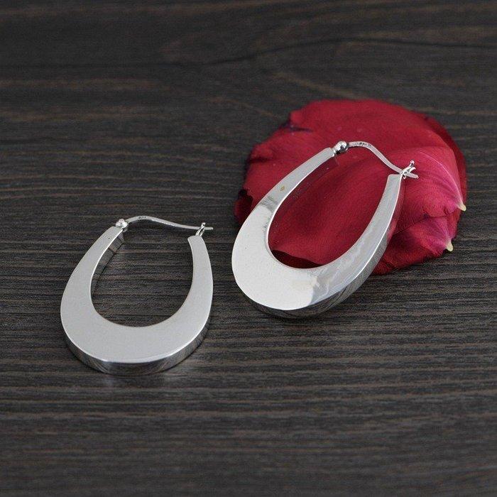 925純銀耳環 素銀光面 幾何造型 純銀耳環 純銀耳針 純銀耳釘 925純銀耳環 925純銀耳針 垂墜耳環 E875