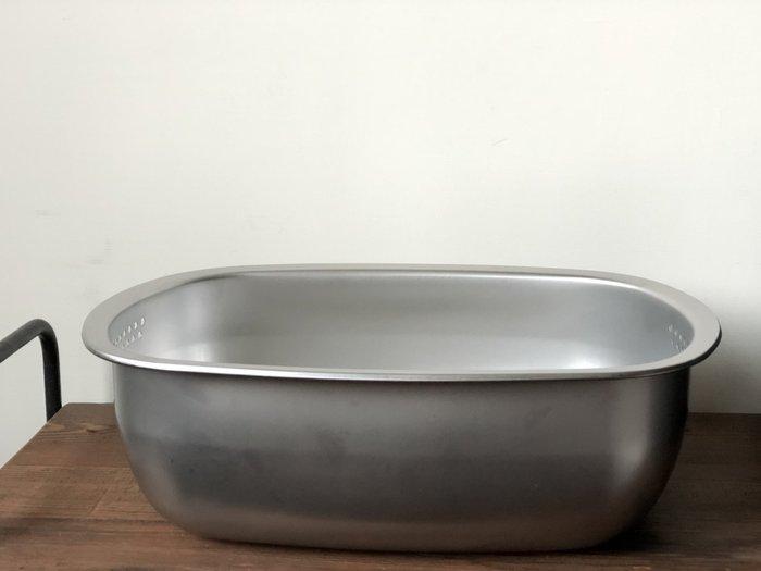 發現花園生活館-日本製 燕三條 下村 不鏽鋼 橢圓 洗菜盆 洗碗盆