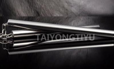 【不銹鋼雙節棍-無頭平頭直管-320g有聲-棍徑2.2*長28cm-鏈長17.5cm-2套/組】響鏈發聲-56015