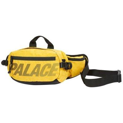 KS▸Palace 18FW Bun Sack 黃色 腰包 隨身側背 大容量 字體 三角形Logo【P15BAG014】