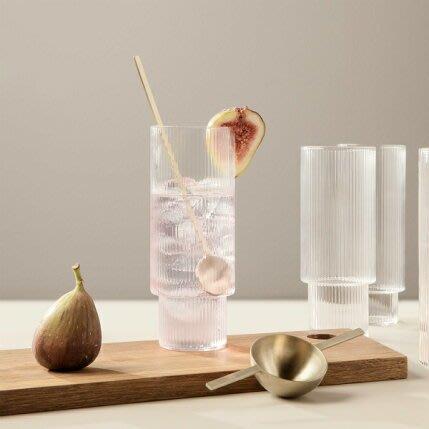 發現花園 日本選物~日本 ferm LIVING  Ripple Long Drink Glasses 玻璃杯 拿鐵杯