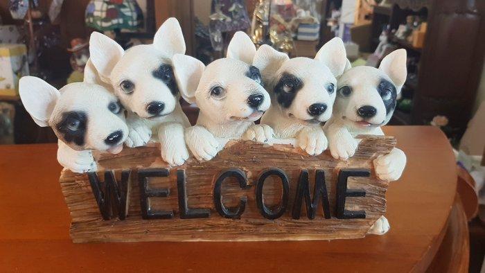 可愛狗家族welcome擺飾