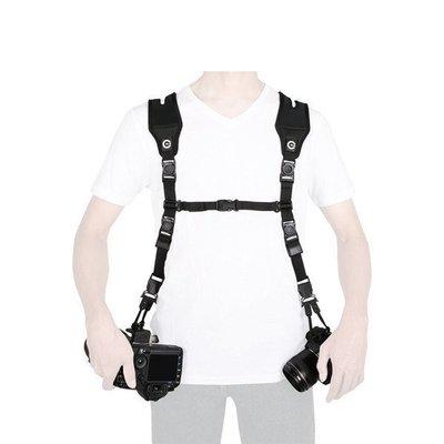 【美國卡司丁™】特攻背帶DUAL組│雙機背帶-支援同時背戴二台相機!-減壓背帶 (免運)
