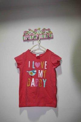 H&M 粉色小鳥棉T