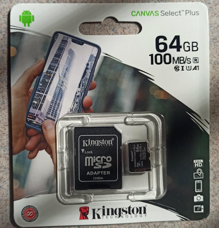 第一大廠 終身保固 金士頓 microSD 64GB 64G 速度升級 100M/s 含轉卡 高速卡 記憶卡 板橋 可面交
