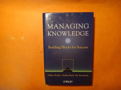 【愛悅二手書坊 04-40】Managing Knowledge