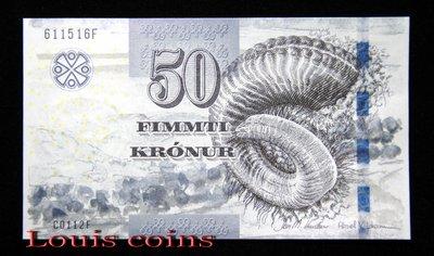 【Louis Coins】B492-FAEROE ISLANDS--2011法羅群島紙幣50 Krónur