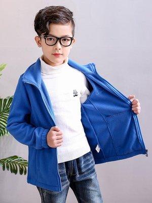 搖粒絨外套男童女童5-16歲抓絨衣內膽秋裝加厚兒童中大童加絨衛衣 交換禮物
