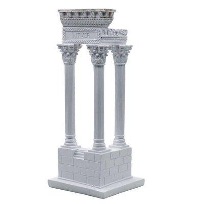 異國浪漫情調 古城白柱 希臘神話 神廟遺跡擺飾 古羅馬神話古蹟裝飾品 羅馬柱遺址建築模型 拍攝道具 美術素描 婚禮布置